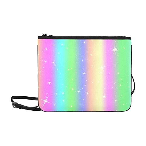 Pastellfarben Benutzerdefinierte hochwertige Nylon Slim Clutch Cross Body Bag Schultertasche ()