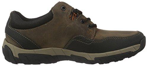 Clarks Herren Walbeck Edge Sneakers Braun (Brown Weather Proof Lea)