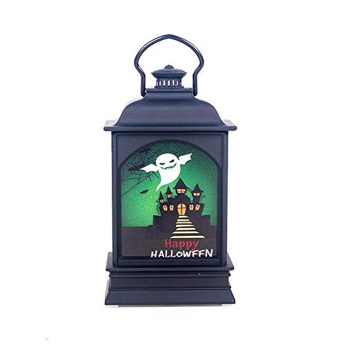 EDQZ Hexe, kreativ, Bedruckt, Kürbis zum Aufhängen, LED, Laterne, Licht, Party, Halloween, Dekoration für den Außenbereich