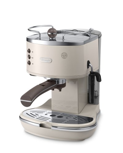 Delonghi ECOV310.BG Vintage Icona Pump Espresso and Cappuccino Machine 1.4 L, 1100 W - Cream Best Price and Cheapest