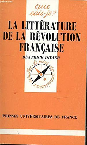 LITTERATURE REVOLUTION FRANCAISE