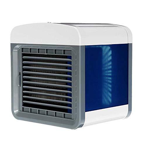 Amfirst Klimaanlage Verdunstungsgerät Lufterfrischer mobiler Luftkühler mit USB Anschluß und Netzstecker  Hydro-Chill Technologie  3 Kühlstufen  7 Stimmungslichter   Das Original aus dem TV (Hlk-anschluss)