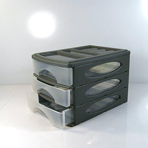 (983) SCHUBLADENBOX Grau A4 QUADRIX Aufbewahrungsbox Ordnungsbox