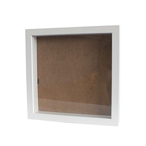 """Tiefer Bilderrahmen von \""""greepic\"""" 25x25cm in vielen Größen und Farben zum befüllen DIY Holz mit Glas frame box Objektrahmen Räumlichkeitseffekt"""