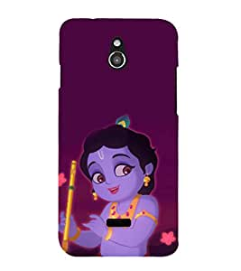 printtech Cute Lord God Krisnhna Back Case Cover for Infocus M2