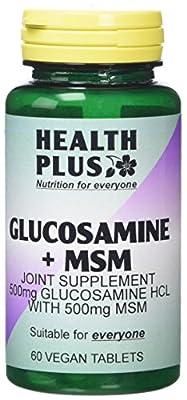 Health Plus Glucosamine + MSM Vegetarian Joint Health Supplement - 60 Tablets from Health + Plus Ltd