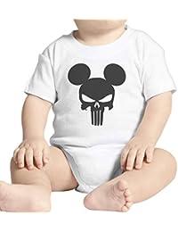 159ab346524e thedifferent Body bébé Mickey Fashion The Punisher Skull Tête de Mort –  Blanc
