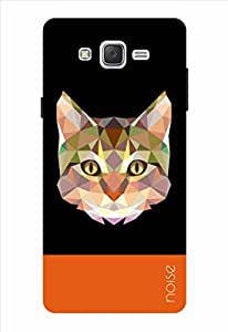 Noise Crystal Cat-Black Printed Cover for Samsung Galaxy J2