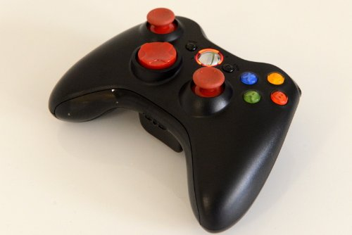 Xbox 360 Modded Controller 10 Mode Rapid Fire Wireless with Red D-pad, Led, and Thumb Sticks for COD Advanced Warfare, Ghost, Mw3, Black Ops 2 by Lighting Modz (Xbox 360 Modded Controller 10)