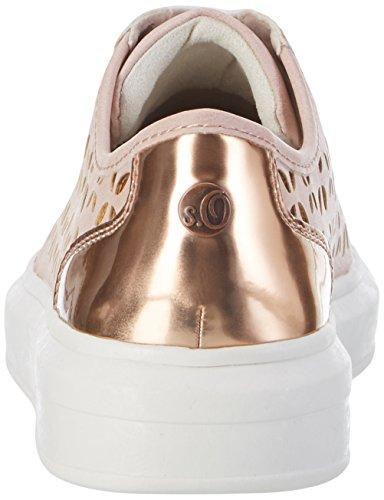 s.Oliver Damen 23629 Sneakers Pink (ROSE COMB 592)