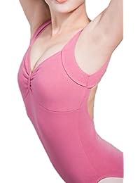 ZKOO Niñas Negro Backless Danza Ballet Maillot Mujeres Señoras de Tirantes de Gimnasia Leotardos