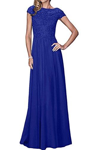 Royal Blau Formale Kleider (La_mia Braut Royal Blau Lang Spitze Brautmutterkleider Abendkleider Formal Kleider Festlich Kleider Bodenlang A-Linie Rock-32 Royal Blau)