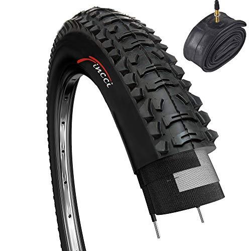 Fincci Set 26 x 1,95 Zoll 53-559 Reifen mit Sclaverandventil Schläuche für MTB Mountain Hybrid Fahrrad
