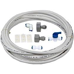 VYAIR Filtre à eau pour réfrigérateur DA97-01469D kit d'installation et connexion pour Samsung réfrigérateur style américain avec intégré distributeur de glace et d'eau (inclut10 metres de 1/10,2 cm/6,4 mm tube de diamètre)