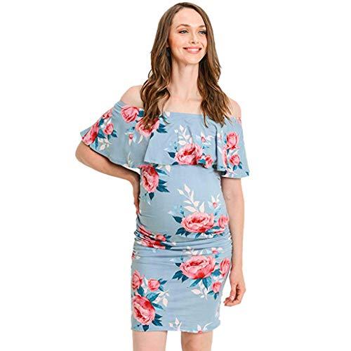 c23aa6208 GUCIStyle Vestido Embarazo Mujer Vestido Estampado Retro Flores ...