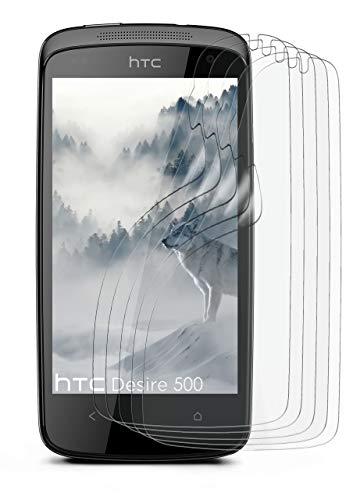 5X HTC Desire 500 | Schutzfolie Matt Bildschirm Schutz [Anti-Reflex] Screen Protector Fingerprint Handy-Folie Matte Bildschirmschutz-Folie für HTC Desire 500 Bildschirmfolie