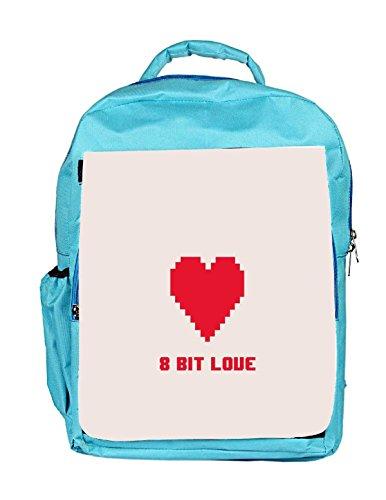 Snoogg Eco Friendly Canvas 8 Bit Love Backpack Rucksack School Travel Unisex Casual Canvas Bag Bookbag Satchel