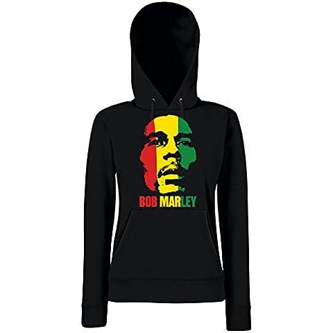 TRVPPY Donna Maglione Felpa con Cappuccio Hoodie Sweater Modello Bob Marley, diversi colori e taglia
