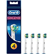 Oral-B FlossAction Toothbrush Heads Replacement Refills for Electric Rechargeable Toothbrush, Tooth by Tooth Cleaning, Pack of 4