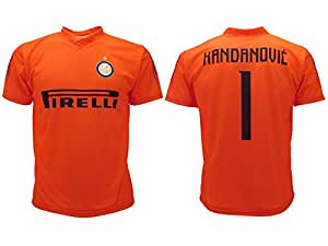 F.C.Internazionale Maglia Handanovic Inter 2019 Arancione Ufficiale Stagione 2018/2019 Replica Autorizzata Portiere Home Samir (M Adulto)
