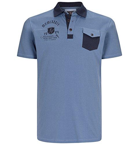 JAN VANDERSTORM Herren Poloshirt LUITGER in Übergröße | Große Größen | Plus Size | Big Size | XL - 7XL Blau