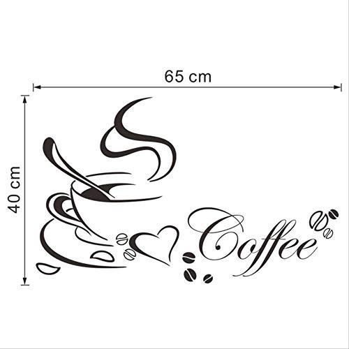 YLGG 2019 Neue hochwertige küche Dekoration Brief kaffeetasse abziehbild Kunst Aufkleber Dekoration zubehör (Decal-brief Macbook)