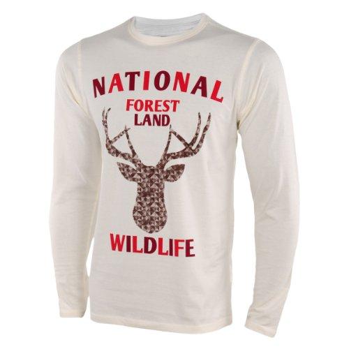 Earthbound National Forest Land Herren Langarmshirt Weiß Weiß