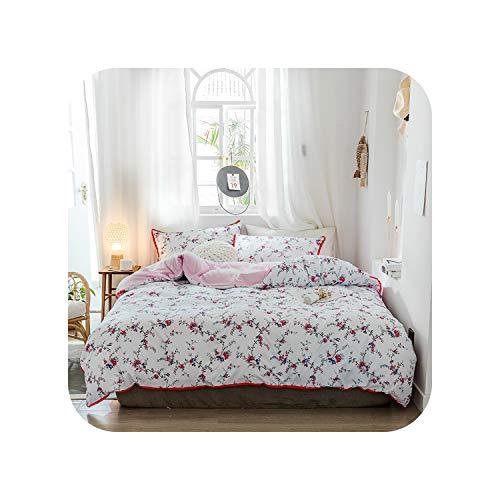 Love every day Stripe Gewaschen Fashion Lila, Rot, Bettwäsche Kit Bettwäsche-Sets Bettbezug Flachbettlaken Pillowcase Bett Auskleidungen, 06, Twin 4Pcs, Flachbettlaken -