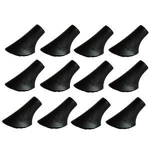 MIGHTY PEAKS 12 Stück / 6 Paar Nordic Walking Pads Asphalt Gummipuffer X-4GT für alle gängigen Nordic Walking Stöcke – Wanderstöcke – für den Nordic Walking Stock mit einen Durchmesser von 10mm