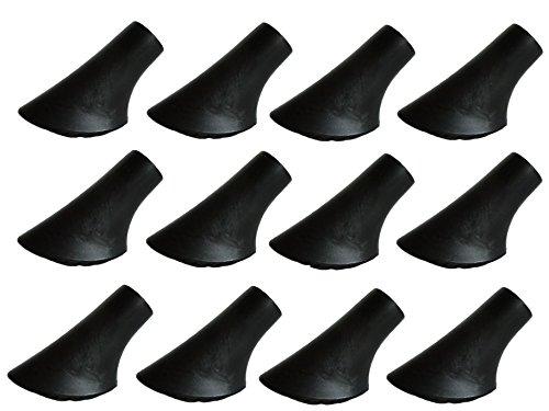 Pad Sahne (MIGHTY PEAKS 12 Stück / 6 Paar Nordic Walking Pads Asphalt Gummipuffer X-4GT für alle gängigen Nordic Walking Stöcke - Wanderstöcke - für den Nordic Walking Stock mit einen Durchmesser von 10mm)