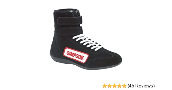 Simpson Racing 28130BK The Hightop Black Size 13 SFI Approved Driving Shoes