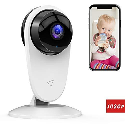 Victure 1080P WLAN Kamera Überwachungskamera Ton/Bewegungserkennung mit Nachtsicht 2-Wege Audio und Cloud Service verfügbar Monitor Baby/Ältere/Haustiere kompatibel mit IOS/Android