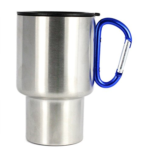 Karabiner Travel Mug (2Pack), 05-1204-2 pac, rot/Silber, 14 Ounce ()