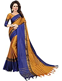Women's cotton Silk Saree With Blouse Piece (TempleVisvaVatiation)