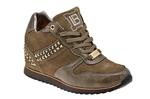 Laura Biagiotti 212 Internes Coin 6 Cm Sneakers N. Taupe