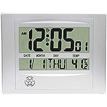 Topkey - Reloj de Pared Digital con Pantalla LCD y Temporizador de Cocina, con Calendario
