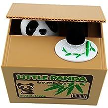 Peradix Juguete Robar Dinero Hucha con Sonido Panda Coger Moneda del Tablero Divertido Juguete de los Niños Regalo Original y Fantástico Divertido Infantil Electronica Coger Dinero ( Panda )
