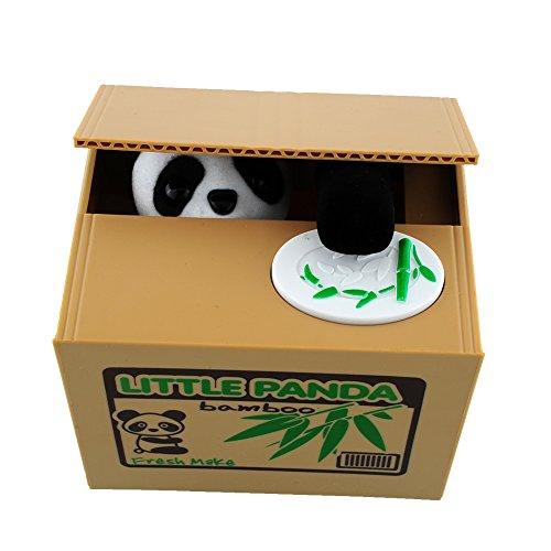Peradix Sparschwein Gelddose Diebstahl Katze Elektronische Spardose witziges Sparschwein Geschenk für Kinder Farbe-Zufall (Panda-UK)