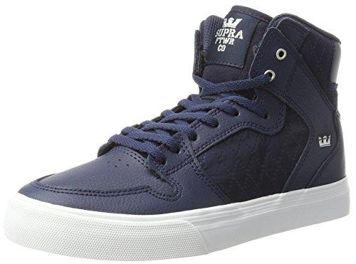 Schuhe Supra Mädchen Für (Supra Unisex-Kinder Vaider Sneaker, Blau (Midnight-White), 36.5 EU)