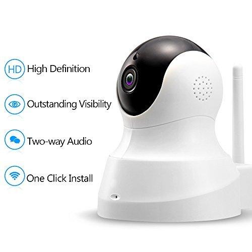 Tenvis cámara IP HD–Cámara IP inalámbrica con Audio de dos vías, visión nocturna cámara, 2,4GHz y 720p cámara para mascotas bebé monitor, seguridad en el hogar cámara detección de movimiento para interiores cámara con Micro ranura para tarjeta SD