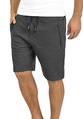 !Solid Taras Herren Sweatshorts Kurze Hose Jogginghose Mit Verschließbaren Eingriffstaschen Und Kordel Regular Fit, Größe:M, Farbe:Dark Grey Melange (8288)