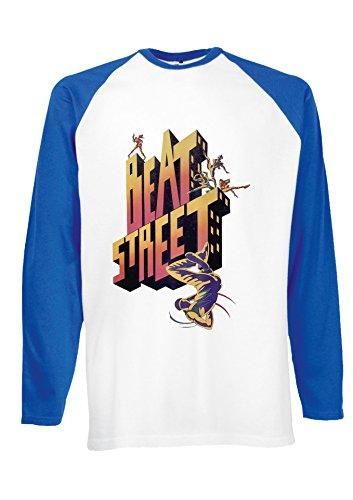 Beat Street Breakdance 1980s Hip Hop2 Novelty Royal Blue/White Men Women Unisex Long Sleeve Baseball T Shirt-L -