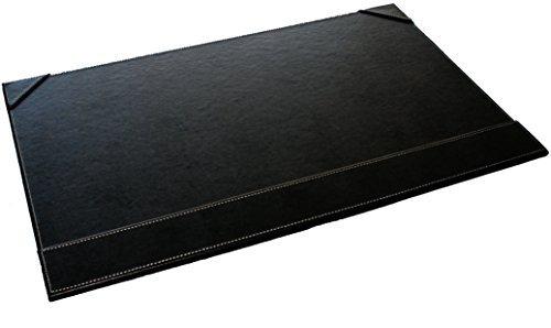 Sous main bureau noir simili cuir 56 x 36 cm