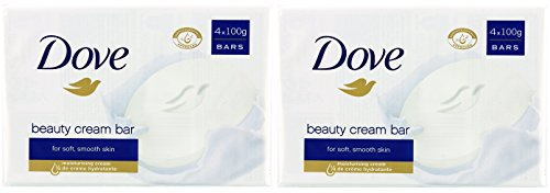 x2 Dove Beauty Cream Bar 100g for Soft and Smooth Skin 4 Packs ( 8 SOAPS)