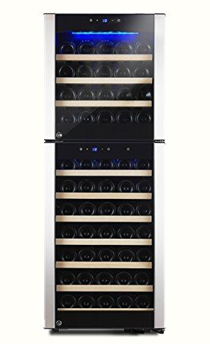 Kalamera KRC-73DZF Design Weinkühlschrank 200 Liter 2 Zonen 5-10°C/10-18°C
