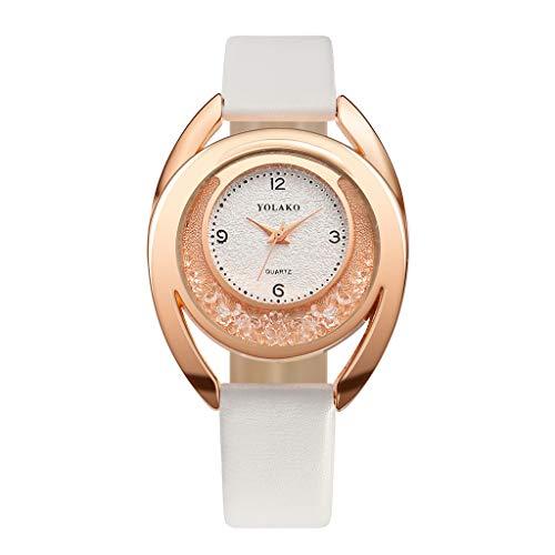 Förderung  LEEDY 2019 Neu Einzigartiges Design Armbanduhr, Damenmode Uhr Ultradünn Retro Classic Quarz Analoges Lederarmband Damenarmbanduhr