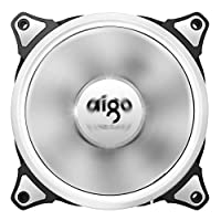 Aigo Aurora 120mm Cooling Fan with White LED Halo Ring 3-pin/LP4 Anti-Vibration Pads