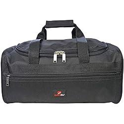 Roamlite Sac Weekend Compatible avec vols Ryanair comme Deuxième Bagage à Main - Mesures exactes 40 x 25 x 20 cm - Bagage de Cabine - Super Leger 0.4kg - Parfait pour Voyages en Avion RL59K (Noir)