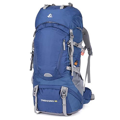 OUTHIKER Wanderrucksack 60L Trekkingrucksack Wasserdichter Reiserucksack Profession Wandern Rucksack Mit Regenschutzhülle,73 * 34 * 23CM