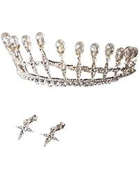 5be1b46202eb Mymyguoe Corona de la Novia Tocado de Corona de Novia Diadema Corona de la Princesa  Zircon